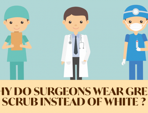 Why do surgeons wear green scrub instead of white?